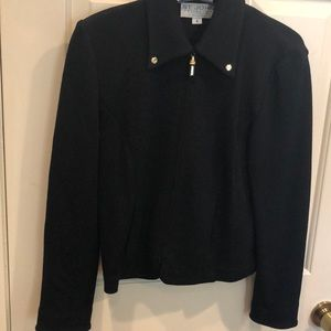St John Collection Black jacket w gold accents